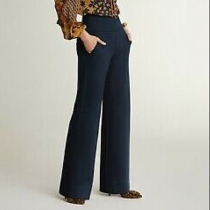 NWT Cabi Navy blue coco wide leg trouser size 14